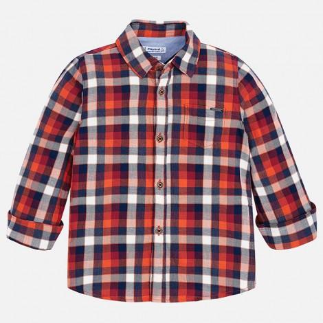 Camisa para niño M/L cuadro leñador color Bengala