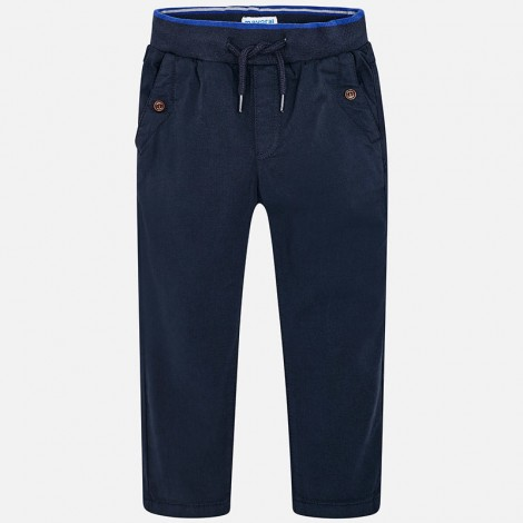 Pantalón niño cintura patente Jogger Fit color Marino