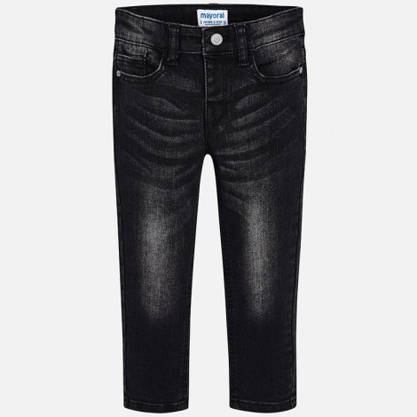 Pantalón denim para niño super slim color Negro
