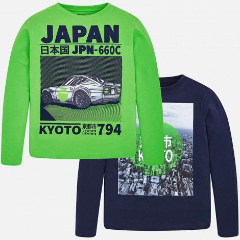 Set 2 camisetas para niño manga larga color Indigo