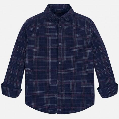 Camisa para niño M/L cuadros color Marino