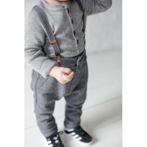 Pantalón bebé FITZ vestir en ANTRACITA