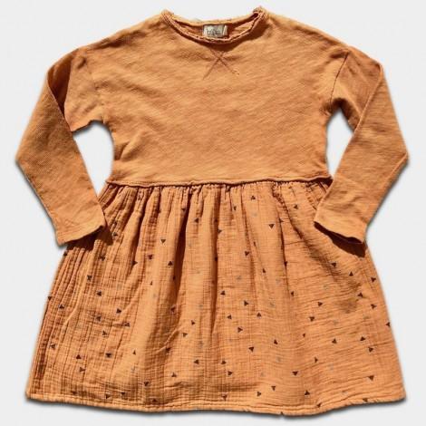 Vestido niña LEA CONFETTI en BISCUIT