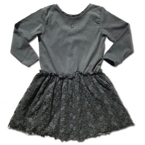 Vestido para niña EMBRODERY TULLE en gris