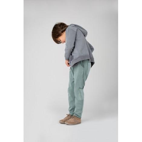 Pantalón para niño TRES BOLSILLOS en VERDE AGUA