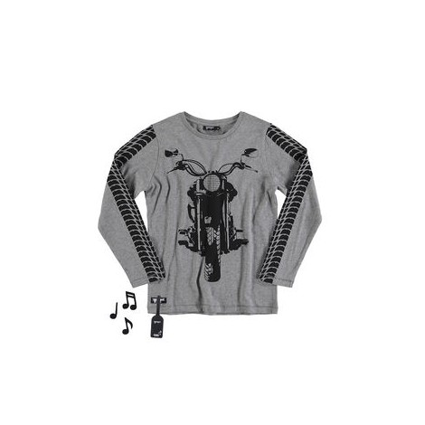 Camiseta niño sonido OFF-ROAD BIKE M/L gris