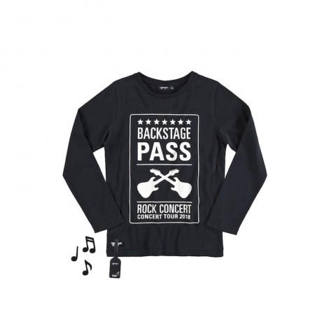 Camiseta infantil sonido ROCK CONCERT M/LBLACK