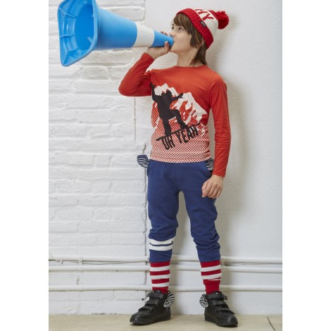 Camiseta infantil sonido SNOW M/L RED