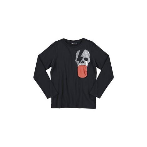 Camiseta infantil bolsillo-lengua SKULL M/L BLACK
