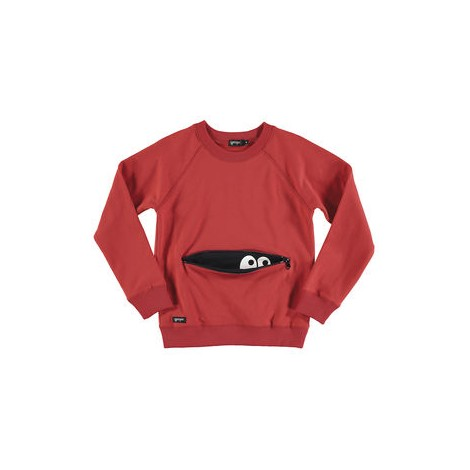 Sudadera infantil MONSTER ZIPPER  RED