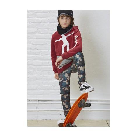 Sudadera niño capucha SKATER HOODIE  granate