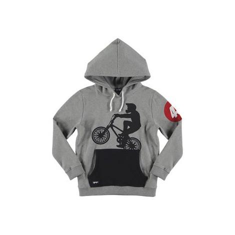 Sudadera niño capucha RIDER HOODIE  gris y negro
