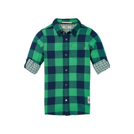 Camisa niño termosellada cuadros grandes