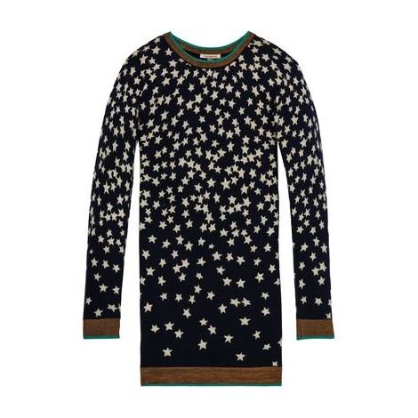 Vestido niña de punto con estrellas