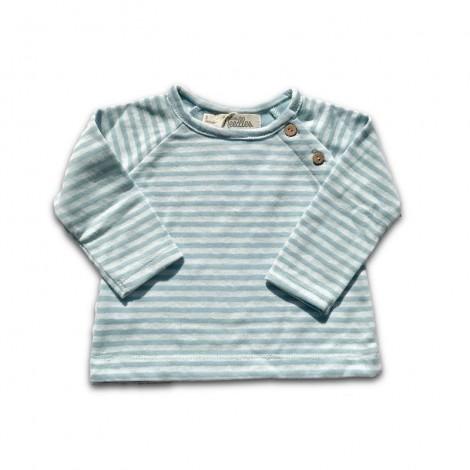 Camiseta bebé RAYAS VERDE AGUA M/L