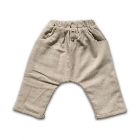 Pantalón bebé baggy BEIGE ESPIGA con forro suave