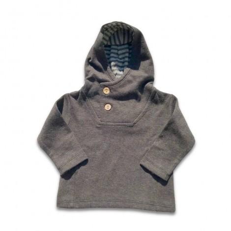 Jersey bebé sudadera capucha antracita