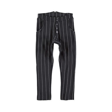 Pantalón infantil baggy PRINTSTRIPES negro a rayas