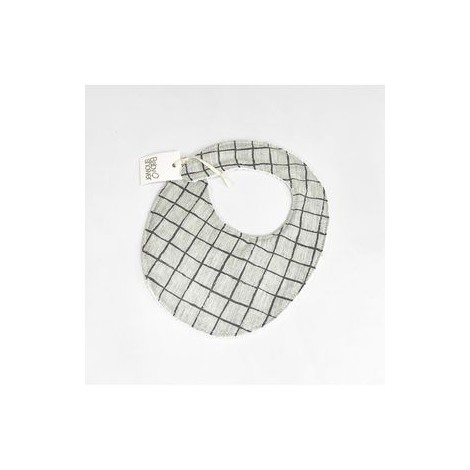 Babero GREY GRID de BabyShower