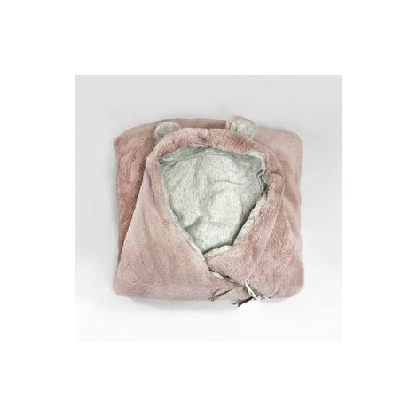 Saco ultra soft TEDDY NUDE PINK de Babyshower