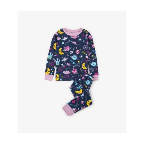 Pijama niña COSMOS fluorescente en algodón orgánico