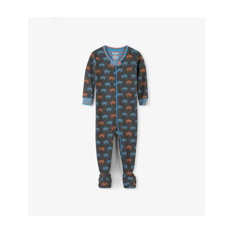 Pijama bebé entero MONSTER TRUCKS algodón orgánico