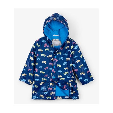Parka impermeable niño MONSTER TRUCK cambia color