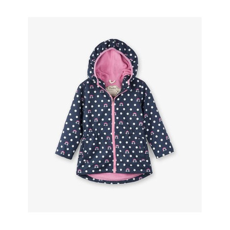 Parka microfibra impermeable niña DOTS RAINBOWS