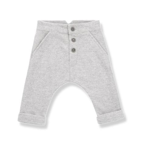 Pantalón bebé FITZ vestir en GRIS CLARO