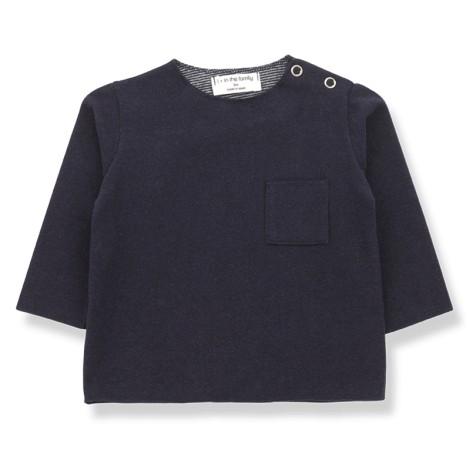 Camiseta bebé ORIOL bolsillo M/L en AZUL