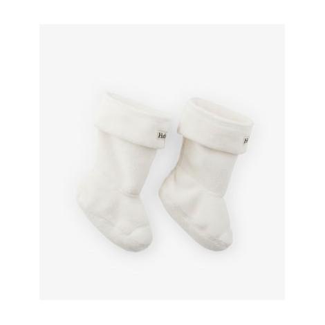 Calcetín infantil forro polar CREMA para botas agua