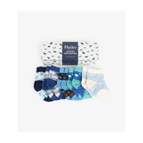 Pack regalo 5 calcetines bebé en lata DINOS