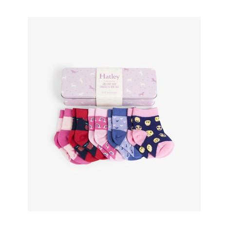 Pack regalo 5 calcetines bebé en lata UNICORNIOS