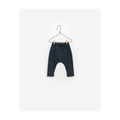 Pantalón bebé baggy BOLSILLO gris azul