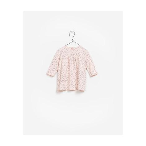 Vestido bebé INTERLOCK color rosa con estampado