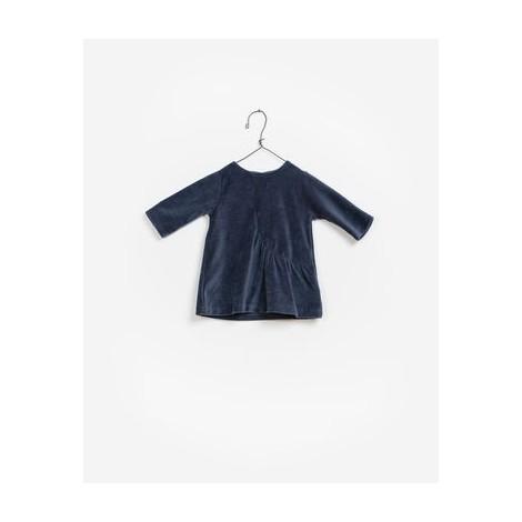 Vestido bebé TERCIOPELO azul night