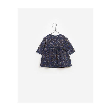 Vestido bebé JACQUARD suave en azul