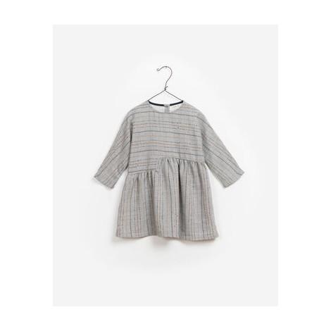 Vestido niña TEJIDO FELPA ESTAMPADO gris