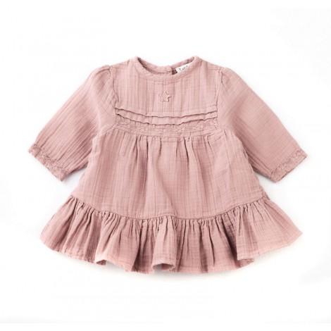Vestido para bebé LACE DRESS con encaje en rosa