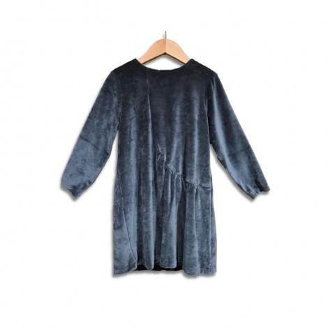 Vestido niña TERCIOPELO azul night