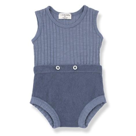 Pelele bebé AYALA dos piezas en INDIGO