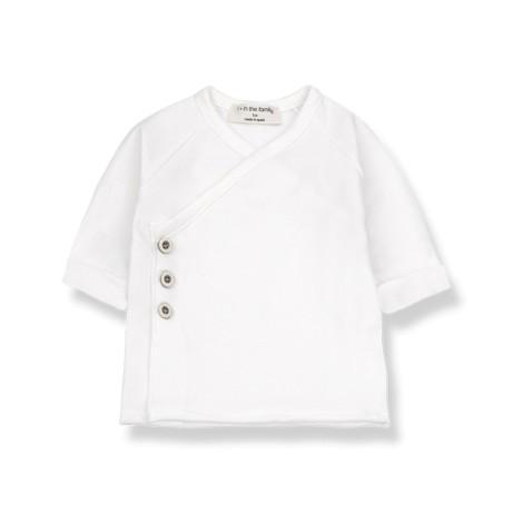 Camiseta jubón bebé GADEA recién nacido en BLANCO