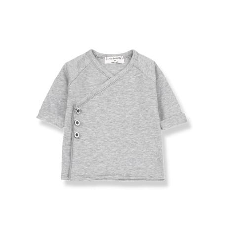 Camiseta bebé GADEA jubón cruzado en GRIS VIGORÉ