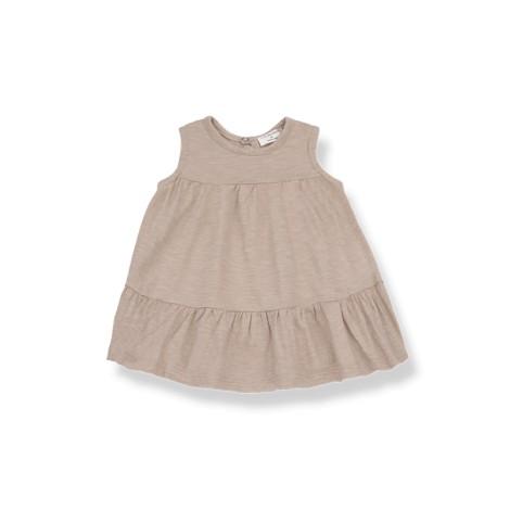 Vestido bebé LOLITA sin mangas en ARCILLA