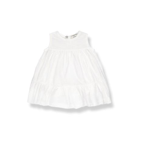 Vestido bebé LOLITA sin mangas en CRUDO