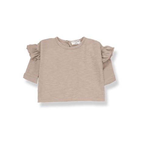 Camiseta bebé NATZA manga larga en ARCILLA