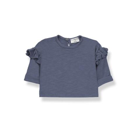 Camiseta bebé NATZA manga larga en INDIGO