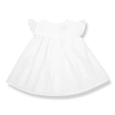 Vestido bebé OLIVIA volantes en CRUDO