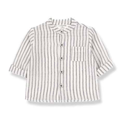Camisa bebé mao OSKAR rayas en NEGRO