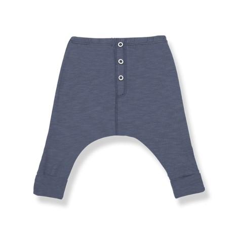 Pantalón largo bebé RAUL bolsillos en INDIGO